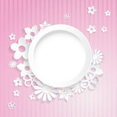 Paper flowers with ring — Vector de stock
