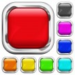Set of square multicolored buttons — Stock Vector #40906927