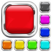 Set of square multicolored buttons — Stock Vector