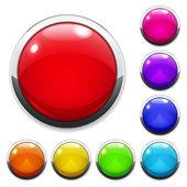 çok renkli cam düğme kümesi — Stok Vektör