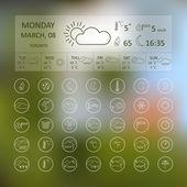 Round weather icons — Stock Vector