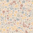 Multicolored seamless pattern of flowers — Vecteur
