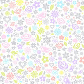 Multicolored seamless pattern of flowers — Stock Vector