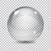 Transparent  glass sphere — Stock Vector