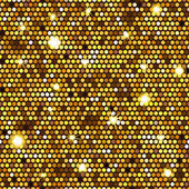 Gold seamless pattern of hexagons — Stock Vector