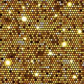 Zlatý vzor bezešvé šestiúhelníků — Stock vektor