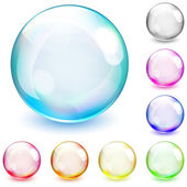 Multicolored opaque spheres — Stock Vector
