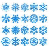Ensemble de flocons de neige — Vecteur