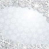 Sfondo di natale dei fiocchi di neve — Vettoriale Stock