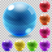 Colored glass spheres — Stock Vector