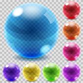 Gekleurde glazen bollen — Stockvector