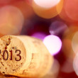 Champagne corks with 2013 year stamp — Stock Photo