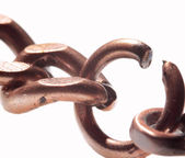 Weak link in stretched chain — Stock Photo