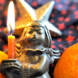 Candlelight dinner with oranges and an Angel 3 — Stock Photo #14712077