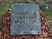 Musquetier - fallen at first war in Germany — Stock Photo