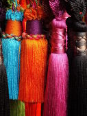 Different colours in threads — Stock Photo