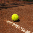 Stock Photo: Red clay and tennis