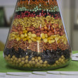 Agro seeds in a jar — Stock Photo