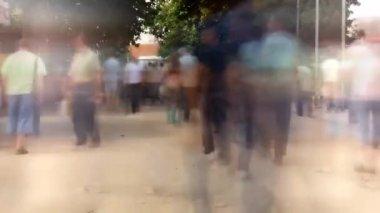 Timelapse of fast walking — Stock Video
