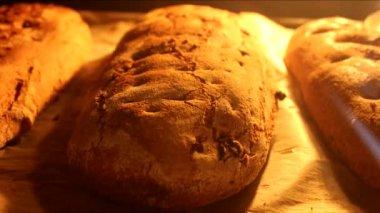 Timelapse pečení chleba — Stock video