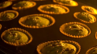 Muffin cup cake — Stock Video