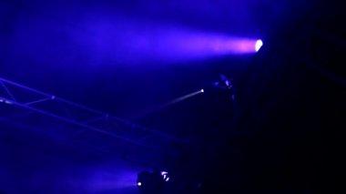 Reflektor strobe ljus bakgrund — Stockvideo