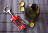 Cap opener and beer — Stock Photo