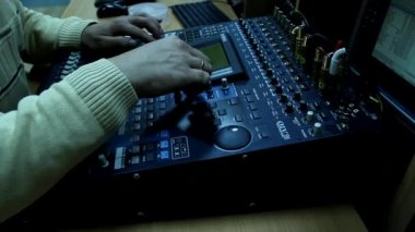 Television audio mixer board — Video Stock