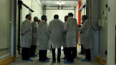 Laboratory team guys — Stock Video