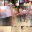 Stock Video: People walking  multi screen