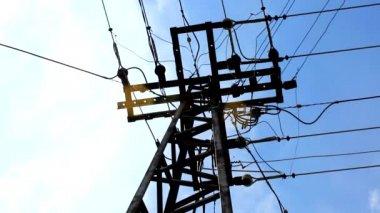 Polacy energii elektrycznej — Wideo stockowe