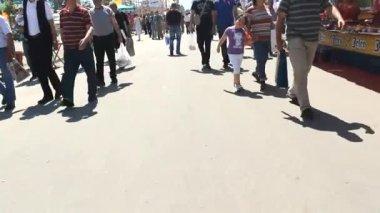 Commuter people  walking people time lapse blur people — Stock Video