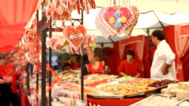Sweet Candies  in the sweet shop — Stock Video
