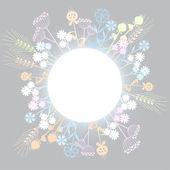 şirin çiçekler arka plan — Stok Vektör