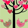 Love birds card — Stock Vector