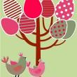 Easter greetings card — Stock Vector