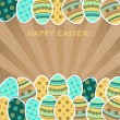 Easter greetings card — Stock Vector