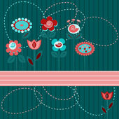 Cute flowers background — Stock Vector