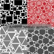 Seamless patterns — Stock Vector #19399693