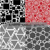 Seamless patterns — Stock Vector