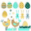 Royalty-Free Stock Vector Image: Easter set.