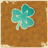 Retro clover background — Vecteur