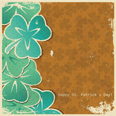 Retro clover background — Vetorial Stock