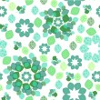 FLORAL abstract background, seamless — Imagens vectoriais em stock