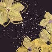 Yellow flowers — Stock Vector