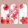 Floral tags — Stock Vector #23584627