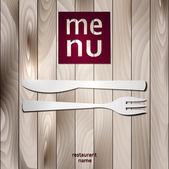 Decorative Menu card. Vector Illustration. — Stock Vector