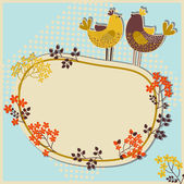 Birds greeting card — Vettoriale Stock
