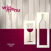 Wine menu — Stock Vector
