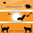 halloween banners — Stockvectorbeeld
